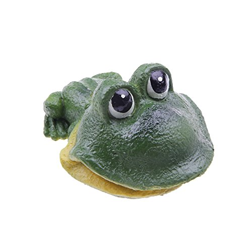 emourstm Süßes Frosch Action-Belüften Aquarium Ornament Aquatic Harz Dekoration für Fish Tank -