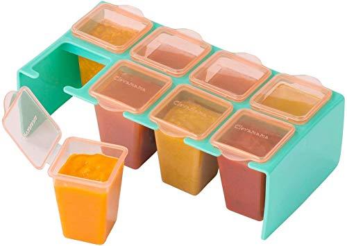 Clevamama ClevaPortions 3003 Vasetti Ermetici per Conservazione Pappa, Multicolore