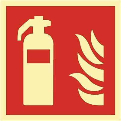 NORDWEST Handel AG Brandschutzzeichen DIN EN ISO 7010 L148xB148mm Feuerlöscher Folie