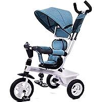 DWhui Triciclo de niños Bicicleta bebé 1-3-5 años de Edad Cochecito de
