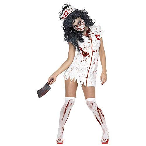 Fuxitoggo Blutige Krankenschwester Cosplay Kostüm Frauen Halloween/Karneval/Neujahrsfest/Feiertag Halloween-Kostüme,1,XL (Farbe : 1, Größe : XL) (Besten Blutig, Halloween Kostüme Am)