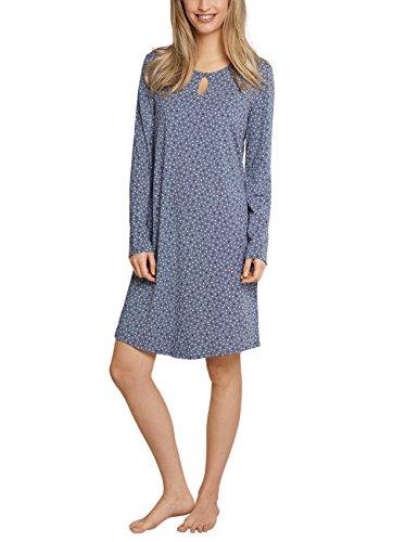 Schiesser Damen Nachthemd Sleepshirt 1/1 Arm Grau (Graublau 209), 38 (Jersey-sleepshirt)