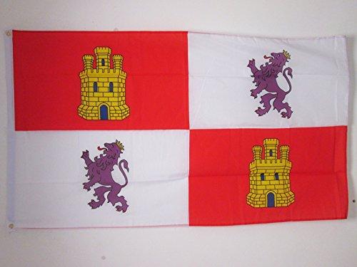 BANDERA de CASTILLA Y LEÓN 150x90cm - BANDERA CASTELLANOLEONESA 90 x 150 cm - AZ FLAG
