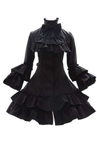 Kawaii-Story JL de 566Negro gótico Punk visuel Kei Kera–Lolita Vestido Disfraz Dress Cosplay