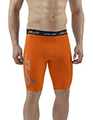 COLD Sous-vêtement thermique homme / Short de compression - Orange - XXL