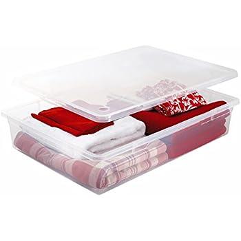 Sundis Clear Box Mega Unterbettbox flache Aufbewahrungsbox