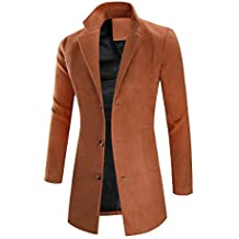 Amazon.it  trench uomo lungo - Giallo 7ab58ad7489
