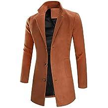 ODJOY-FAN-Maschio Sezione Media e Lunga vestibilità Slim Cappotto Peloso  Cappotto da Uomo 782ab251f9c