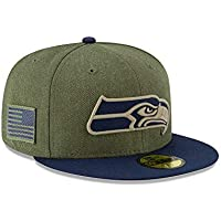 New Era Seattle Seahawks On Field 18 Salute to Service Cap 59fifty 5950 Fitted Limited Edition