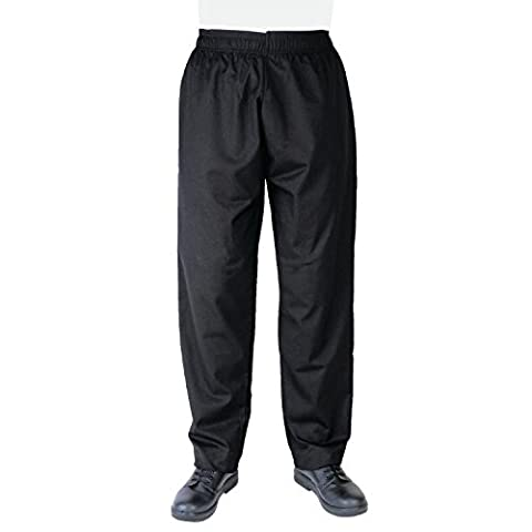Whites Chefs Apparel A582-L Vegas Chef Trousers, Black