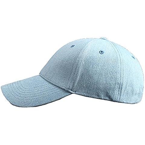 Los hombres y las mujeres del algodón del sombrero de vaquero del béisbol ocio al aire libre Cubiertas de color puro , light blue