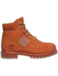 06495d66cd84a Timberland Kids 6 inch Premium Boot Dark Rust Silk Suede A1BKSD89 (5 M US  Big