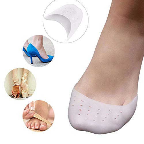 Pedimend PEDIMEND toe caps made of silicone gel, (1 pair) - pointee shoe toe protector - ball of foot cushion - foot care