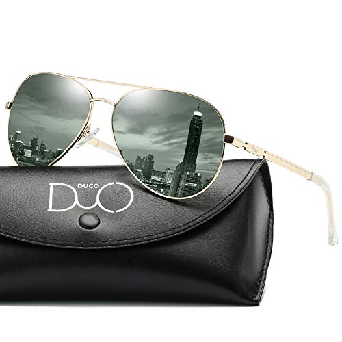 DUCO Coole Fliegerbrille Sonnenbrille Klassische Unisex Pilotenbrille Verspiegelt UV400 Filterkategorie 3 CE 3025K