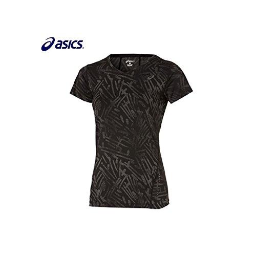 Asics-Maglia sportiva da donna, nero, XS