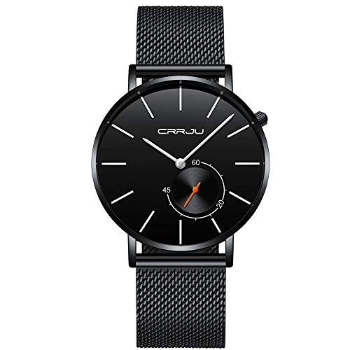 30 Meter Imprägniern Super Dünne Herren Business Watch Schwarz Freizeit Armbanduhr Kinlene Herenen Urhen