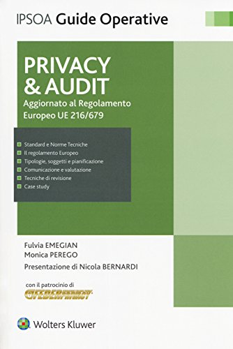 Privacy & audit. Aggiornamento al regolamento europeo EU 216/679. Con Contenuto digitale per download e accesso on line
