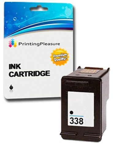 Printing Pleasure Tintenpatrone kompatibel zu HP 338 für Photosmart 2610 8050 8150 8750 C3180 DeskJet 460 460c 5740 OfficeJet 100 150 Mobile 6210 7310 H470 PSC 1610 2355 - Schwarz, hohe Kapazität -