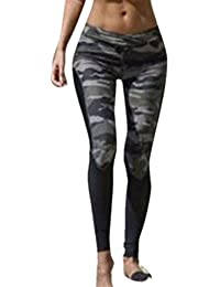 Amlaiworld Femmes Camouflage Pantalons de Sport Leggings de Sport, Yoga, Pilates, Plank, Jogging et Fitness