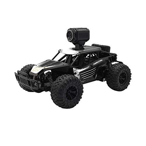 Geländewagen mit HD 1:18 25 km/h Kamera Fernbedienung Racing Truck Radio Control Unabhängige Suspension Jeep Auto Spielzeug (Schwarz) ()