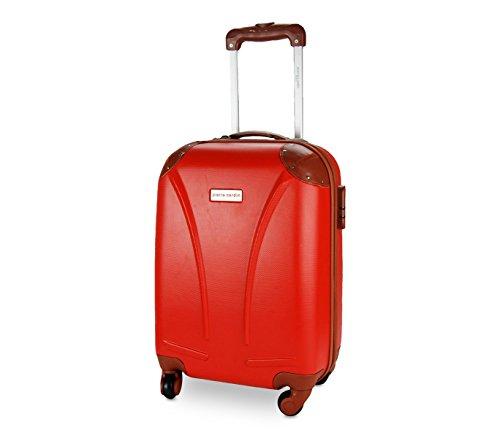 DFS512 Trolley rígida Pierre Cardin en ABS y ruedas giratorias 48x34x20 cm – Rojo