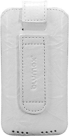 Blumax Étui en cuir délavé pour Apple iPhone 4 Gris Blanc