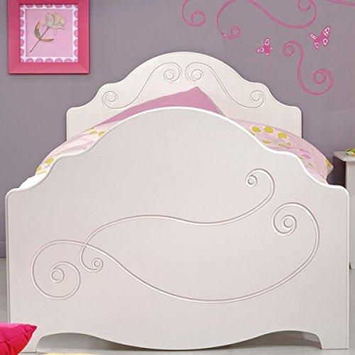 Kinderbett Celina 90*200 cm MDF Holz weiß Jugendbett Jugendliege Bettliege Bettrahmen Mädchenbett Bett Nako Jugendzimmer Kinderzimmer - Weiß Bettrahmen