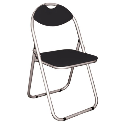 Watsons on the Web Perch – Metal Framed Folding Padded Chair – Silver/Black