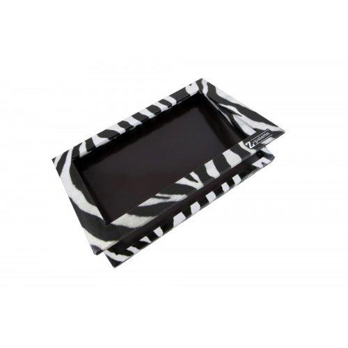 Z Palette - Large Palette Customisable de Rangement pour Maquillage - Design Noir & Blanc Zebra (Maquillage non inclus)