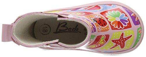 Beck Memory, Bottes en caoutchouc avec doublure intérieure fille Rose - Pink (rosa / 03)