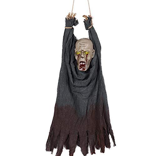 Stage props Halloween Horror Requisiten, Spukhaus Dekoration Requisiten Skelett, Sprachsteuerung Jitter unheimlich Bühnenrequisiten