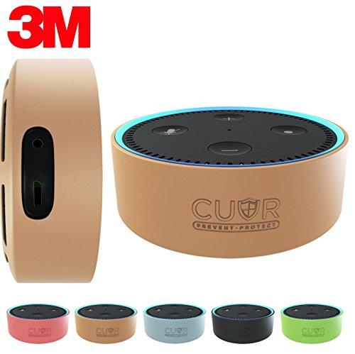 amazon-echo-dot-case-by-cuvr-3m-wall-mount-pad-no-drills-or-screws-hazelnut