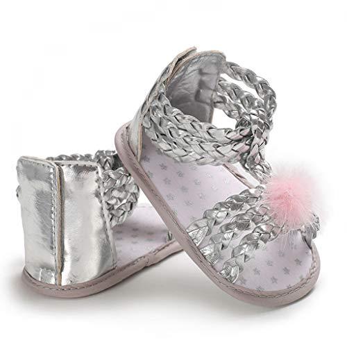 Mädchen Sandalen, Neugeborenes Baby Weiche Sohle Haar Ball Prinzessin Schuhe, Infant Pre Walker Schuhe, Krippe Schuhe (Baby Walker Schmal)