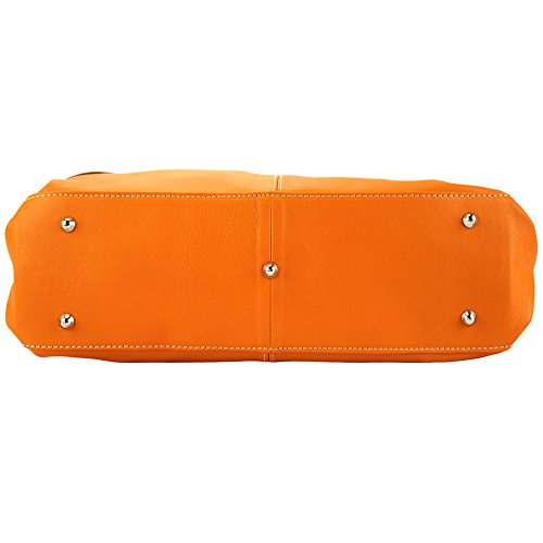 BORSA A SPALLA ELISABETTA FATTA IN PELLE MORBIDA 3001 Arancione