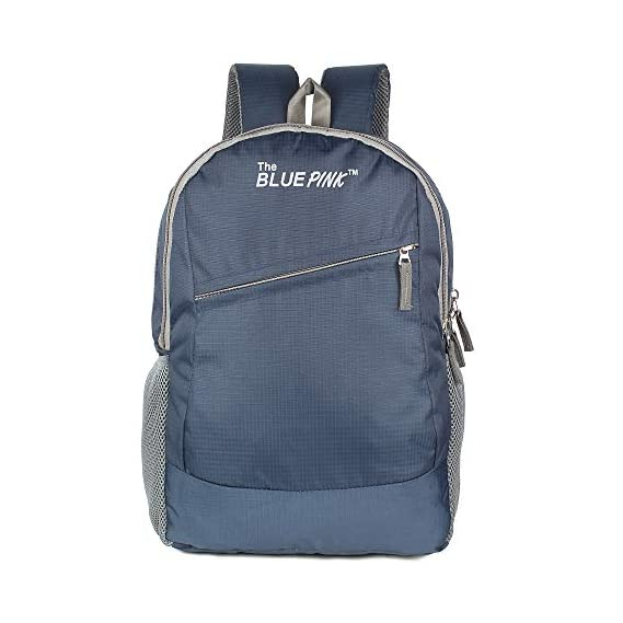 Dussle Dorf Polyester 20 Liters Navy Blue and Grey Laptop Backpack