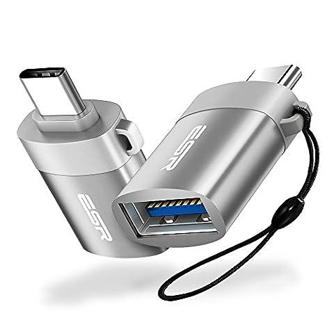 2 X ESR® USB-C auf USB 3.0 A OTG Adapter für Macbook, Google Nexus 5X / 6P, HTC 10, OnePlus 2, Samsung Galaxy S8, Huawei P10 P9 Mate 9