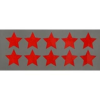 """Reflektierendes Aufkleberset """"Sterne, 10 Stück, rot"""", reflex_007_rot, Ø 3,5cm pro Aufkleber, Reflexion, Leuchtaufkleber, Aufkleber für Bike, Helm, Auto, Sicherheit für Kinder"""