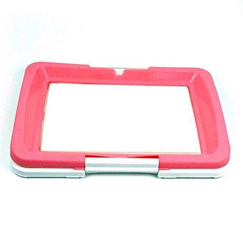 Delmkin Hundetoilette Welpentoilette Hunde Sauberkeitserziehung – 47 x 34 x 5.5cm (rosa) - 2