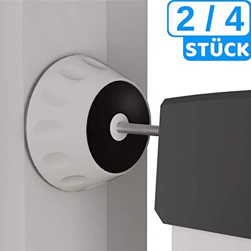 Hochwertiger Wandschutz von BEARTOP™ mit 4cm Durchmesser - Treppengitter ohne bohren & Werkzeug befestigen - für Baby, Kind, Haustier - 4er Set - färbt nicht ab - 100% ZUFRIEDENHEITSGARANTIE