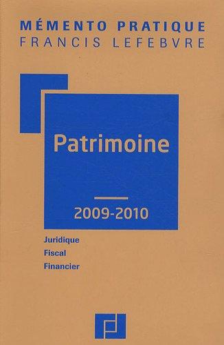 Patrimoine par Francis Lefebvre