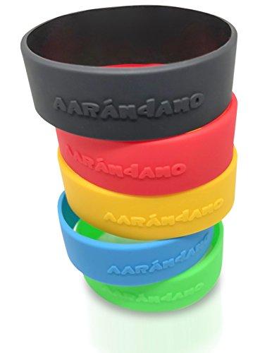 AARÁNDANO TM Carbon Slim Wallet Silikon Ersatzbänder - 6 Extra Bänder für Ihr Kreditkartenetui