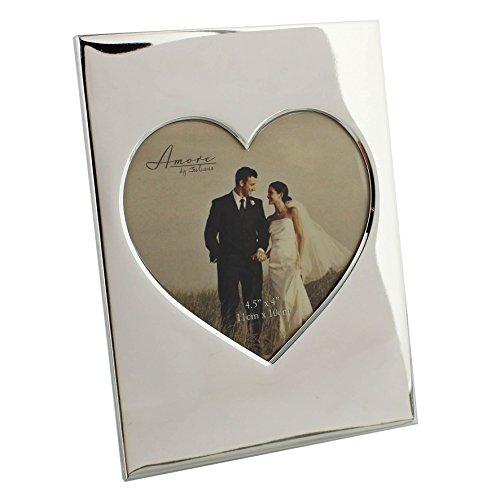 Amore fotos brillante marco fotos forma corazón 4,5