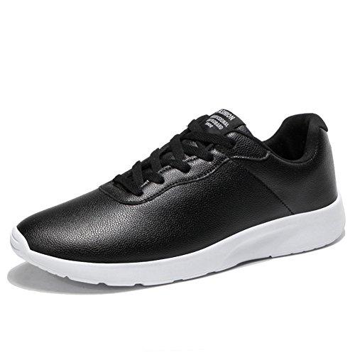 Koneep Schuhe Herren Damen Sneaker Turnschuhe Sportschuhe Sommer Freizeit Max Atmungsaktiv Gym Outdoor Laufschuhe Schwarz Weiss 46(Y07BK43) (Schwarz Gazelle Adidas 2)