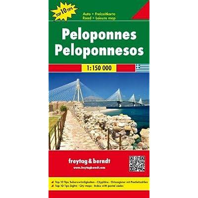 Peloponeso 1:150.000: Toeristische Wegenkaart 1:150 000