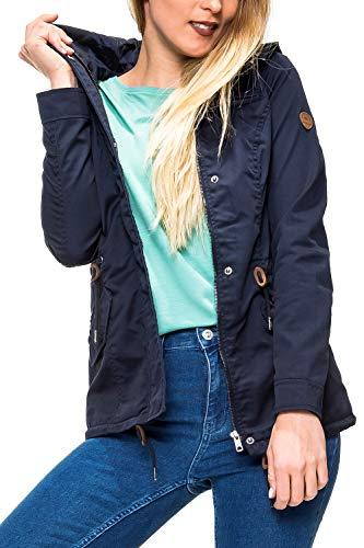 ONLY Damen Parka Übergangsjacke Kapuzenjacke Leichte Jacke Kurzmantel (S, Colour 2)