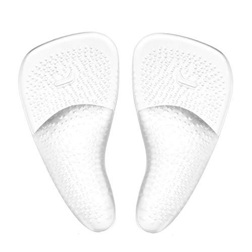 1 Paar Transparent Silikon Selbstklebend Arch Support Vorfußkissen Flache Füße Korrektur Schmerzlinderung Einlegesohlen Schuh Pads Foot Center Protector Schuhe für Fußschutz -