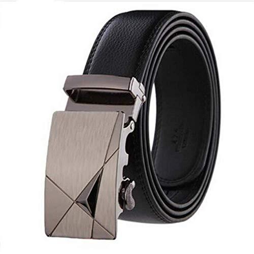 New Fashion Automatic Buckle Male Genuine Leather Strap Designer Belts Men Girdle Wide