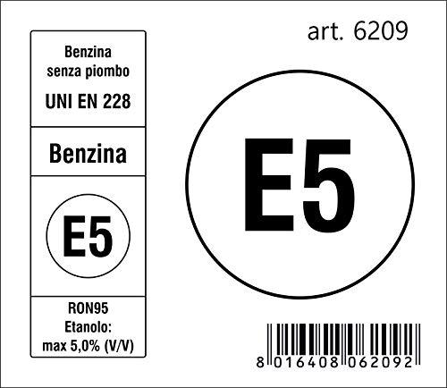 Quattroerre 6209 Adesivo Sigla Carburante E5 Benzina 2018, 7,5 x 6,5 cm