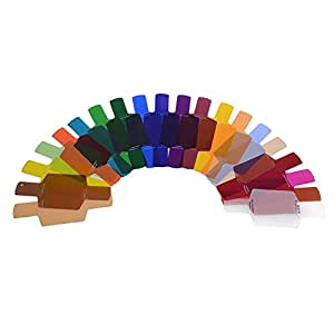 Neewer 20-pezzi Kit di Fotografia Filtri Colorati, Adattabile con Canon Nikon Olympus Panasonic Pentax Nissin Vivitar Konica Minolta Metz Neewer Flash e altri Shoe-mount Flash