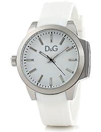 D&G Dolce&Gabbana DW0746 - Reloj analógico de mujer de cuarzo con correa blanca